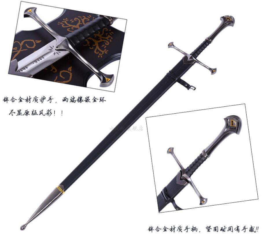 Lord of the rings EPEE Anduril Aragorn King with sheath replica steel decoration Aragorn sword Lord of the rings