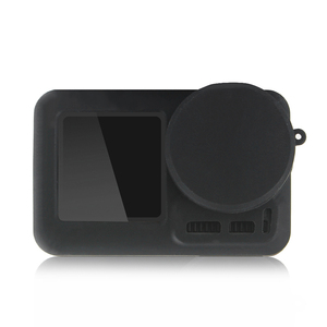 Image 4 - 2 で 1 osmoアクションカメラシリコンケース + レンズキャップ保護カバー防塵アンチスクラッチ用dji osmo acitonカメラ