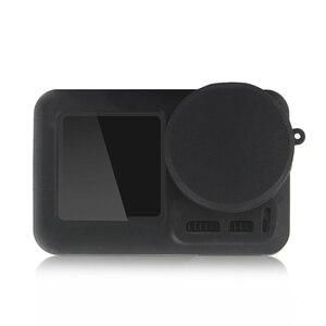 Image 4 - 2 في 1 osor عمل كاميرا غطاء من السيليكون عدسة غطاء واقية واقية الغبار واقية المضادة للخدش ل dji osmo aciton كاميرا