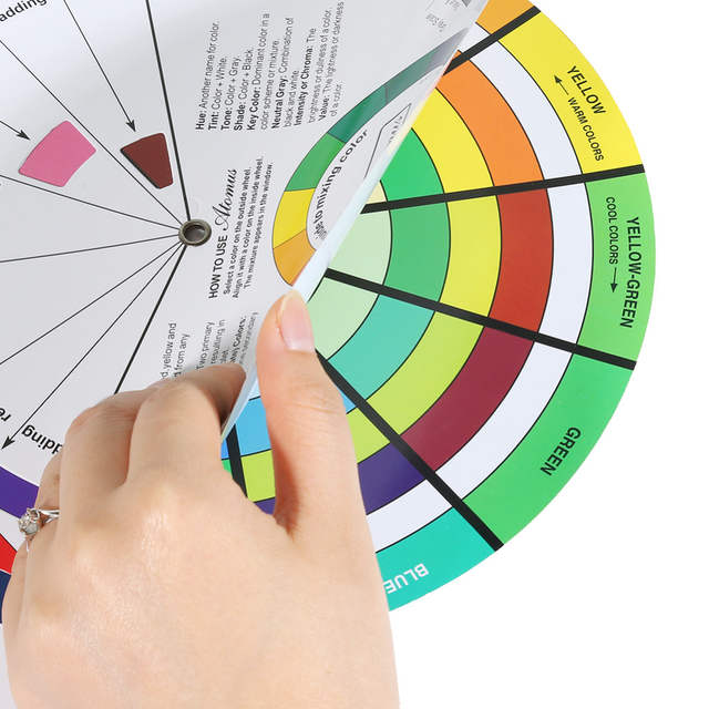 Online Shop Tattoo Pigment Color Wheel Mix Round Nail Polish Gel