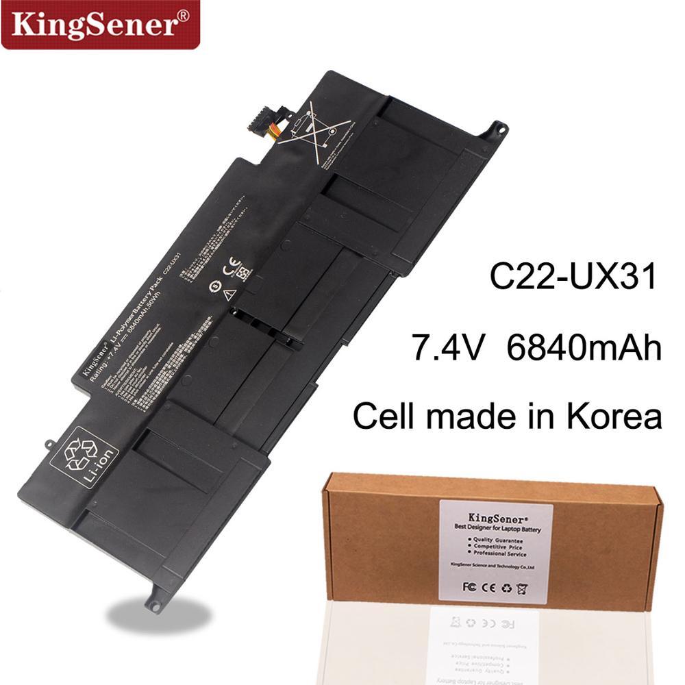 KingSener Nouveau C22-UX31 batterie d'ordinateur portable pour asus Zenbook UX31 UX31A UX31E UX31E-DH72 C22-UX31 C23-UX31 7.4 V 50WH/6840 mAh