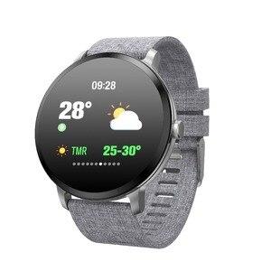 Image 1 - 696 V11 חכם שעון לחץ דם רטט מזג אוויר תחזית Smartwatch גברים נשים פעילות כושר צמיד עבור אנדרואיד IOS