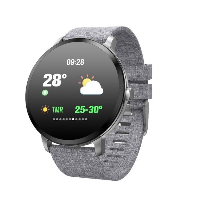 696 V11 חכם שעון לחץ דם רטט מזג אוויר תחזית Smartwatch גברים נשים פעילות כושר צמיד עבור אנדרואיד IOS