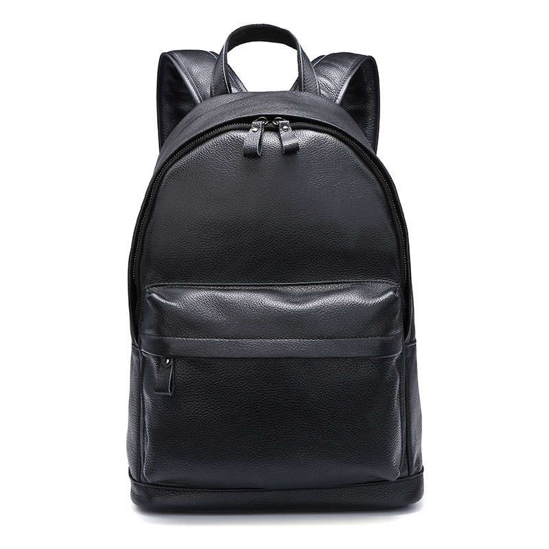 New Brand 100% Genuine Leather Men Backpacks Fashion Real Natural Leather Student Backpack Boy Luxury Business Laptop School Bag