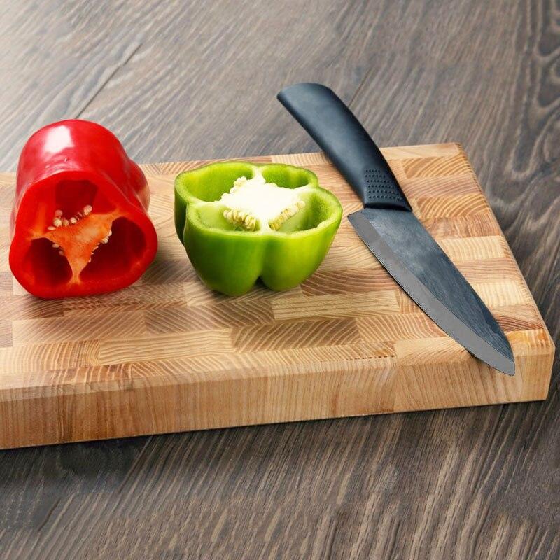 Image 2 - High quality brand black blade kicthen ceramic knife set  3 4  5 6 inch   peeler   Acrylic Holder/stand Chef Kitchen knifeknife  d2knife doubleknife ceramic