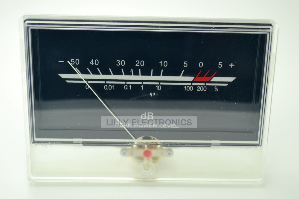 VU Meter Level Meter Audio Volume db Meter Level DB P-134-1 Back Light vu meter db level header amplifier chassis audio preamp backlight p 59wtc