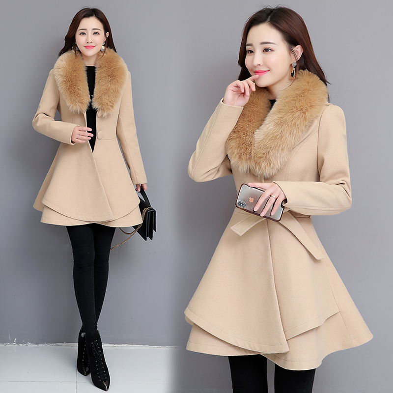 New 2019 Autumn New Winter Coat Chaqueta de mujer Winter Jacket Women Long Blends coats Wool Coat Windbreaker jacket in Wool amp Blends from Women 39 s Clothing