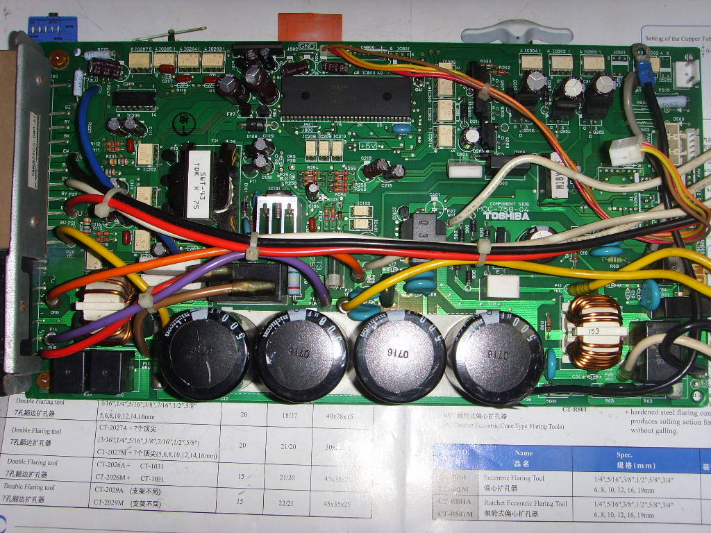 Central Air Conditioning Computer Board Inverter Control Panel Circuit Outside Mcc 758 04 Used Disassemble In Industrial Accessories