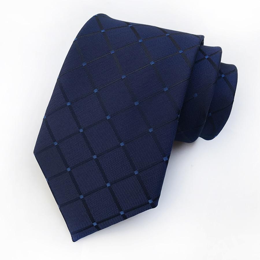 Men's Formal Necktie with Grids 3