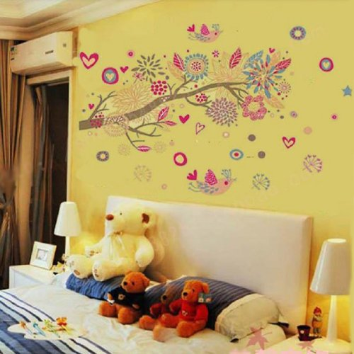 Bohemian New design Vinyl Wall Stickers Bohemia Home Decoration Leopard Wall Decals for Living Rooms Free Shipping
