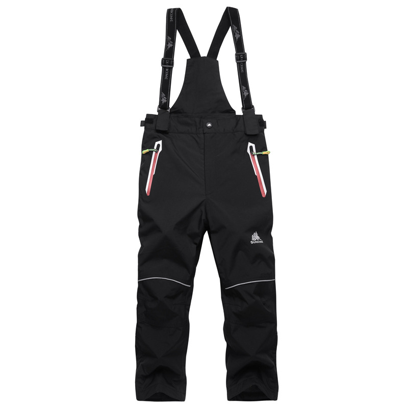 Children Girl And Boy Overalls Skiing Suit Pants Kids Outdoor Snowboarding Trousers Waterproof Thermal Winter Ski Suspended Pant