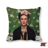 MIAOJI Cushion Cover Frida Kahlo Mexican Artist Throw Pillow Case Sofa Bedroom Home Decorative Free