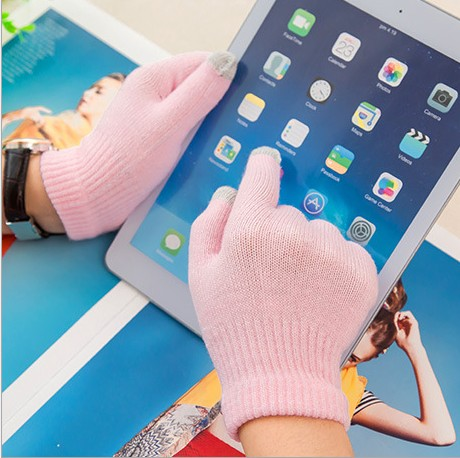 Hot !Korean Version Of Pure Warm Touch Screen Gloves Gloves Warm Winter Magic Solution Screen Gloves