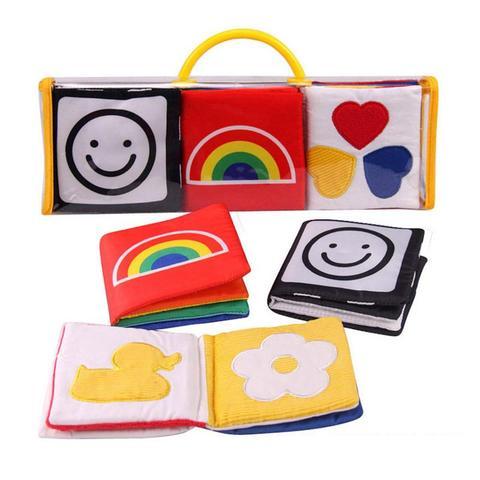 preto e branco bebe pano macio livro criancas infantil primeiro colorido brinquedos educativos para criancas