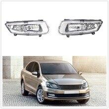 Автомобильная противотуманная фара для VW Polo Sedan Автомобильная-Стайлинг передняя противотуманная фара противотуманный светильник без лампочек