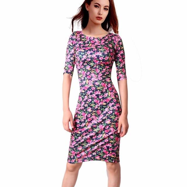 Women Dress Casual Vestidos Sheath Plus Size 30 Styles Floral Print