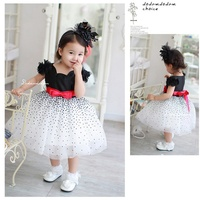 Retail Polka Dots Girl S Fashion Baby Party Dress Princess Lace Tutus For Kids Girls Clothes