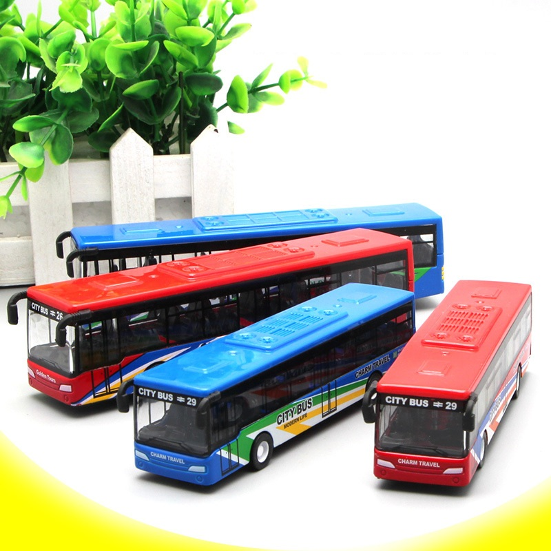 1:64 Scale Model Car Bus Children's Educational Toys Miniature Car Collectible Toys For Birthday Gif New