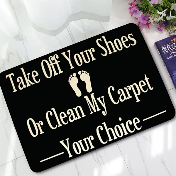 """new halloween doormats funny sign \""""take off your shoes\"""" homenew halloween doormats funny sign \""""take off your shoes\"""" home decorative door mats welcome floor mat front porch rugs lyn21"""