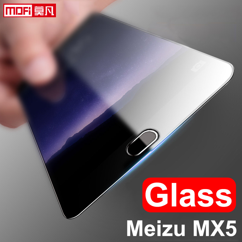 meizu mx5 glass tempered meizu mx5 glass screen protector mofi clear 9H 2 5D protective ultra thin anti blue eyesight protect in Phone Screen Protectors from Cellphones Telecommunications