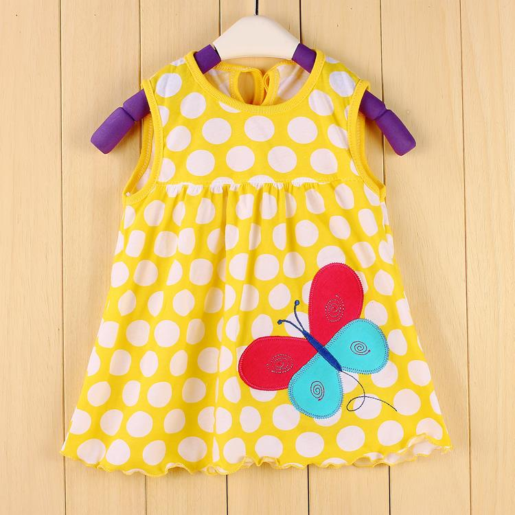 900ada8e76241 US $4.35 8% OFF 2018 Summer Baby Clothing Girls Dress Bebe vestidos Newborn  baby girl clothes dresses frock designs Jumpers Tank Top-in Dresses from ...