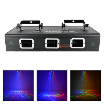 AUCD 500mW RGB Full Color Beam Animation Scan Projector Laser Lights PRO DMX DJ Party Star Stage Performance Show Lighting 503F