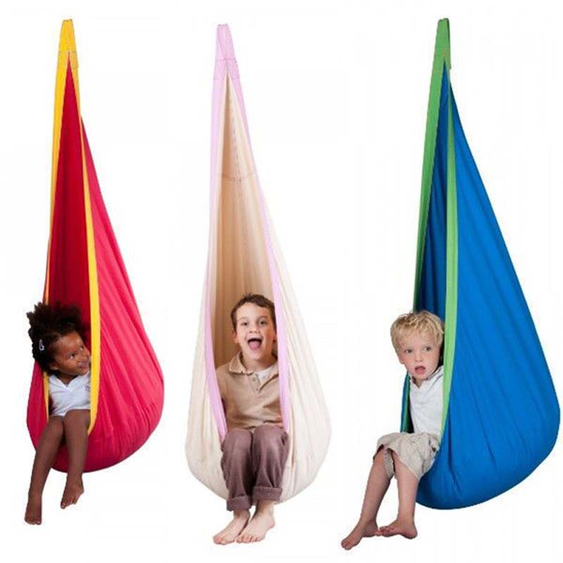 1 pc Red /Pink Baby Swing Children Hammock Kids Swing Chair Indoor Outdoor Hanging Chair Child Swing Seat new kids pod swing chair nook hanging seat hammock nest for indoor and outdoor use great for children kids 7 types