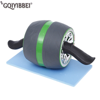 Automatic Rebound Fitness Ab Roller No Noise Abdominal Workouts Wheels With Mat For Home Gym Equipment Exercise Machin