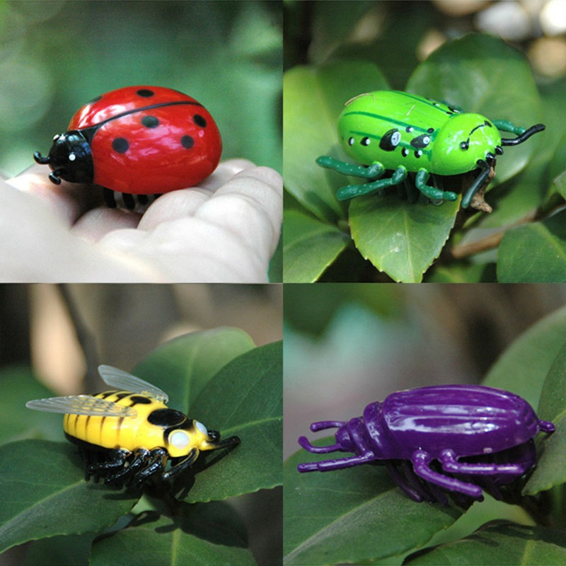Battle Bugs in 4 Designs, Battery Powered Mini Toys For Cats, Ladybug Ladybird, Hornet, Beetle, Cat Toy