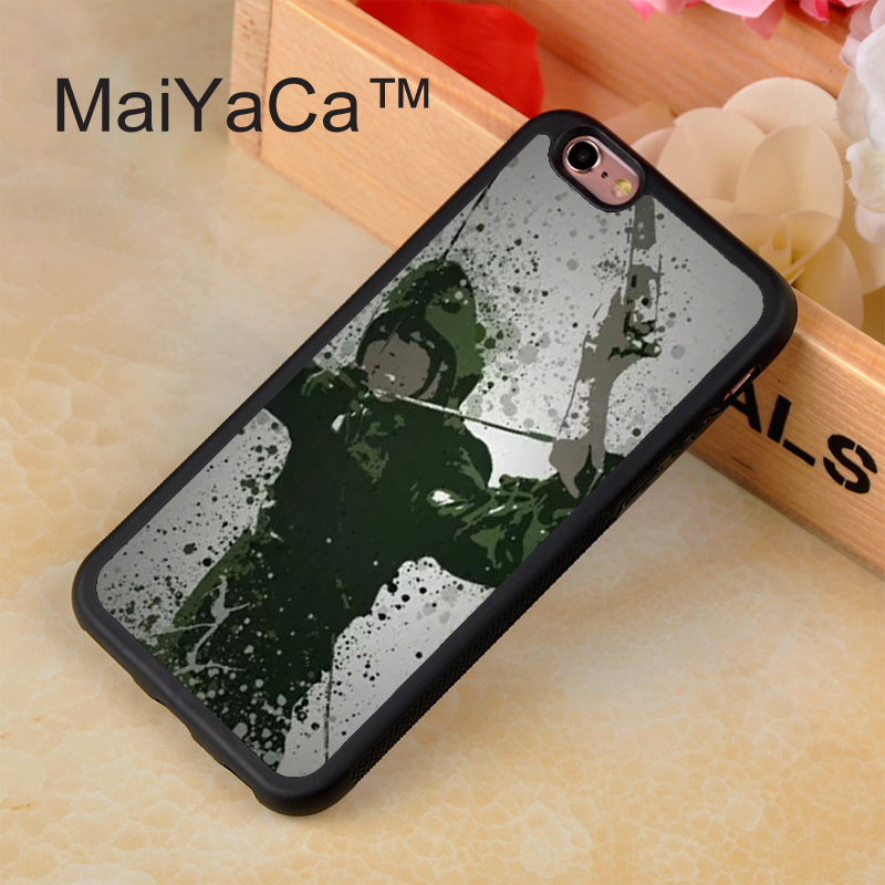 333_L1842_W658_M7939_Free shipping green pop marvel hero dc culture splatter super arrow bow case for iPhone 6 6 Plus 5 5s 5c 4 4s with gift
