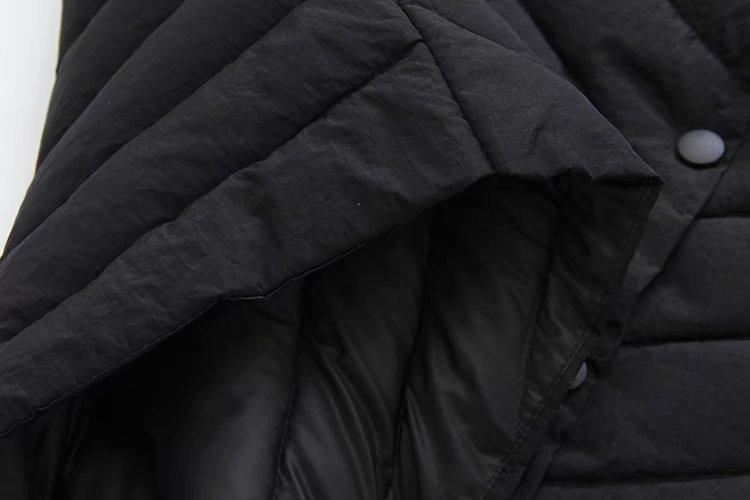 Le Coréenne rembourré Noir Coton Noir rouge Vêtements Vers Hiver Col Manteau Épaississement Lâche Parkas Coton Roulé Bas Outwear gris Long z4qWwAf