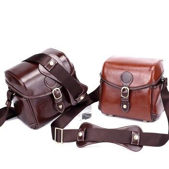 Фото ПУ кожа ретро камера DV сумка для Canon Nikon Sony Samsung JVC модные водонепроницаемые винтажные сумки