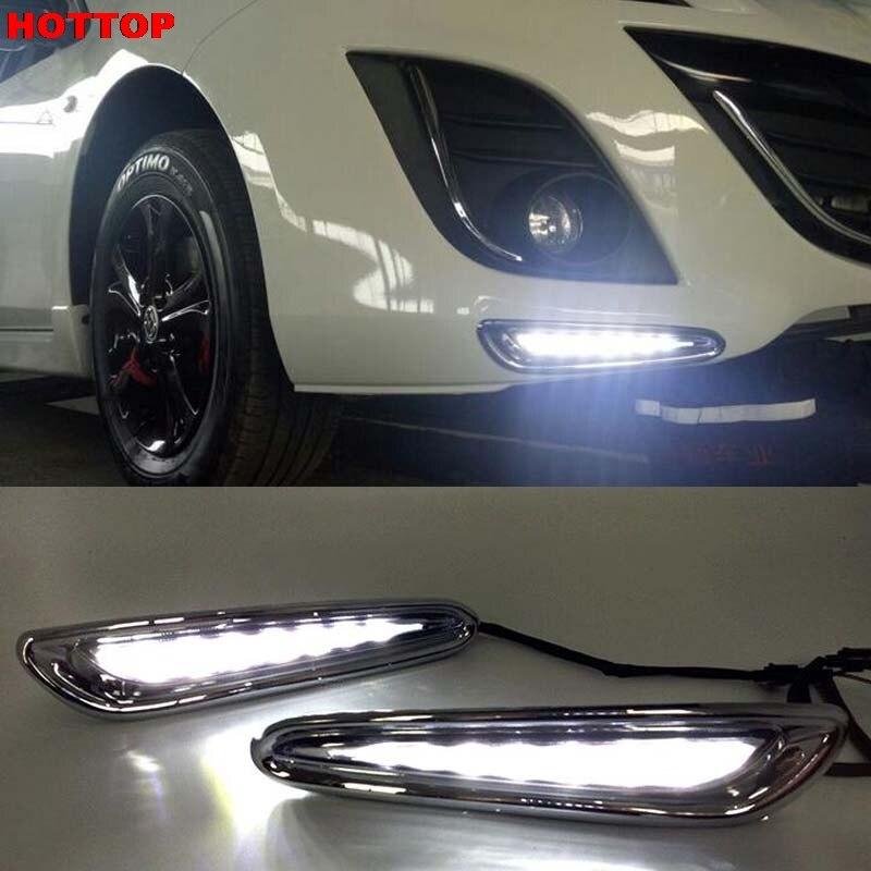1 Set DRL For Mazda 3 Mazda3 2010 2011 2012 2013 LED DRL Daytime Running Lights Daylight Fog light cover car styling