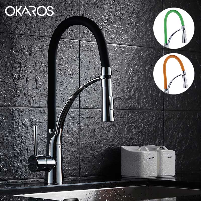 Black And Chrome Kitchen Faucets popular black faucets kitchen-buy cheap black faucets kitchen lots