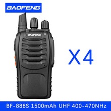 4 PCS Baofeng BF 888S Walkie Talkie 5W Handheld Pofung UHF 5W 400-470MHz 16CH Two way Portable CB Radio