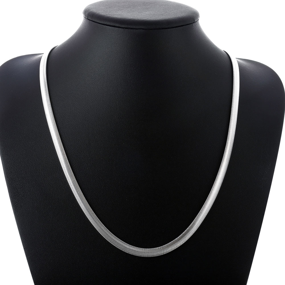 6MM 16-24INCH Soft Snake Bone Chain Halskjede For Kvinner Og Menn Fashion Sølvsmykker Top Quality Wholesale Pris