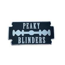 Peaky Blinders cuchilla de afeitar pin esmaltado sólido para solapa