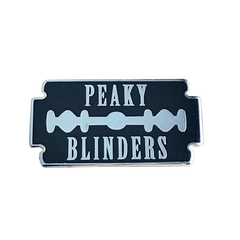 Peaky Blinders razor blade hard enamel lapel pin-in Pins & Badges from Home & Garden