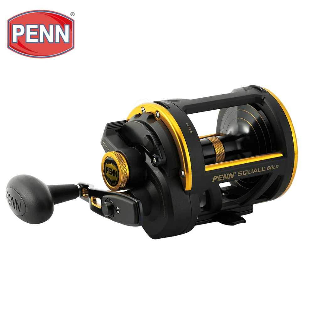 PENN Brand SQUALL LEVER DRAG SQL50LD/SQL60LD BaitCasting Fishing Reel 4.3:1 6BB Drum Wheel Saltwater Casting Sea Fishing Reel