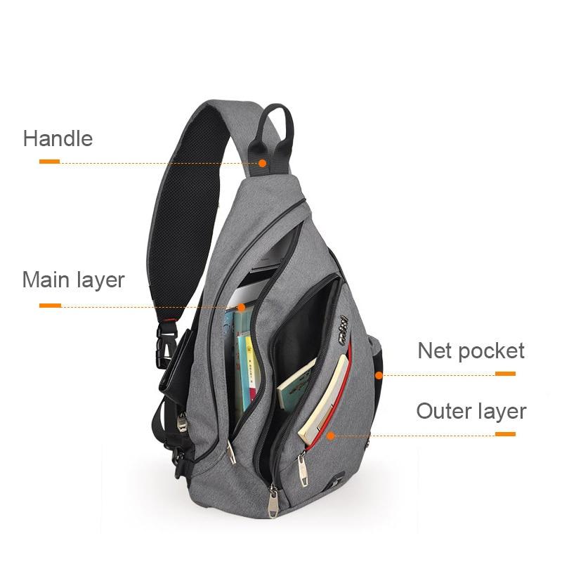 773d278a7c4 🛒[bsu1f] Mixi Men One Shoulder Backpack Bag Boys Work Travel ...