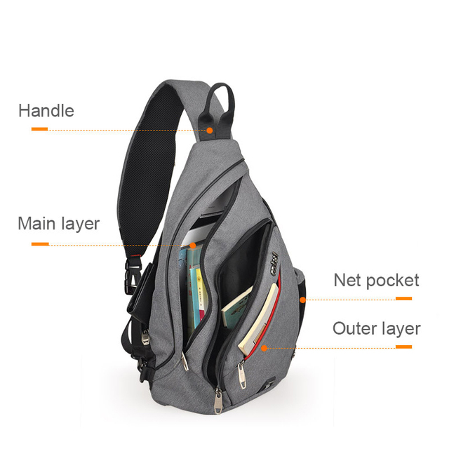 Mixi Men One Shoulder Backpack Bag Boys Work Travel Versatile Fashion Bag Student School University 2019 New Design