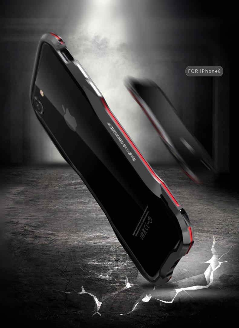 iPhone X 7 8 Plus Luphie Metal Bumper Aluminum Case (18)