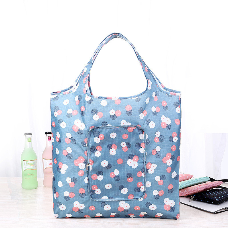 Fashion Eco friendly Folding Shopping Bag Women's Handbags Waterproof Printing Foldable Reusable Household Tote Bags reusable cotton linen eco friendly shopping bag grocery tote shoulder handbag