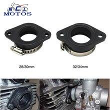 Sclmotos-adaptador de borracha para motocicleta, tubo de admissão adequado para koso mikuni pwk keihin 28 30 32 34mm carburador atv