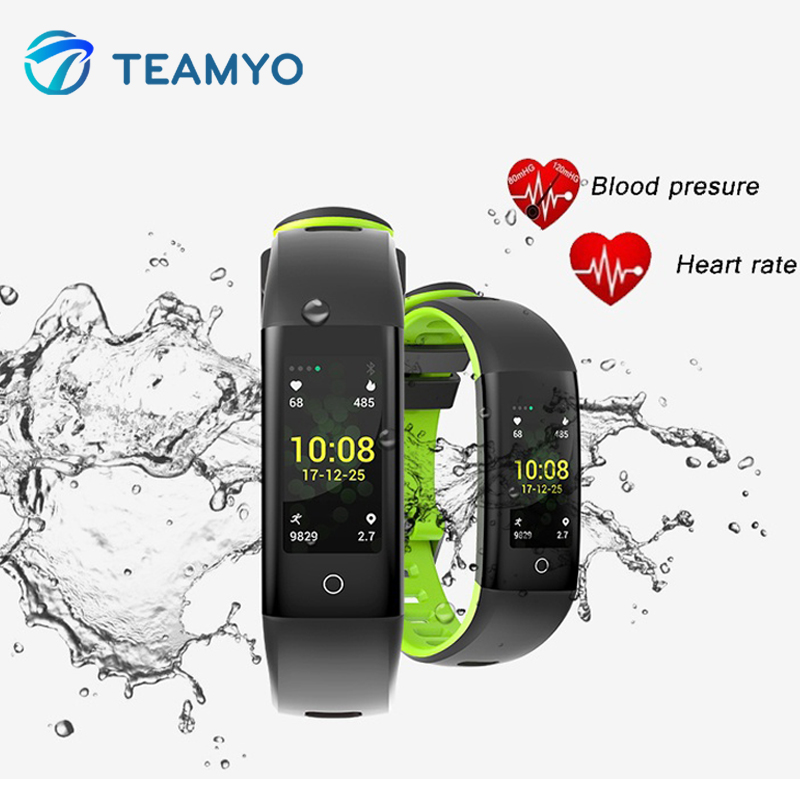 Teamyo Color Screen Smart Band Heart Rate Monitor Blood Pressure Calorie Step Monitoring Fitness bracelet Writband for AndridIOS