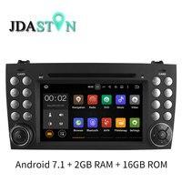 JDASTON Android 7.1 In Dash Car DVD Player For Mercedes Benz SLK R171 SLK230 W171 GPS Navigation Radio Audio Multimedia 2G+16G