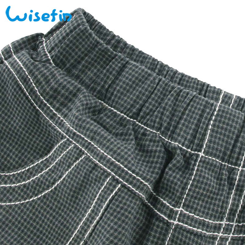 87a0f77ea5e Wisefin Boys Shorts 100% Cotton Trousers Summer Elastic Waist Pocket Loose  Small Plaid Fashion Sports Kid Casual Short Pants-in Shorts from Mother    Kids on ...