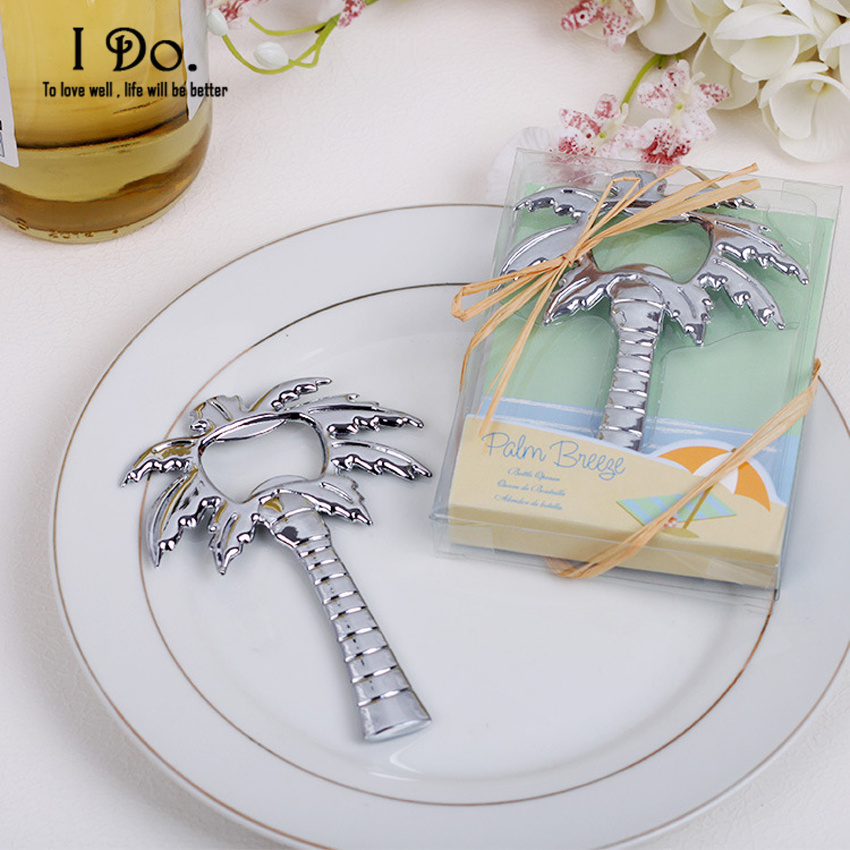 Free Shipping Coconut Tree Bottle Opener Wedding Favors And Gifts