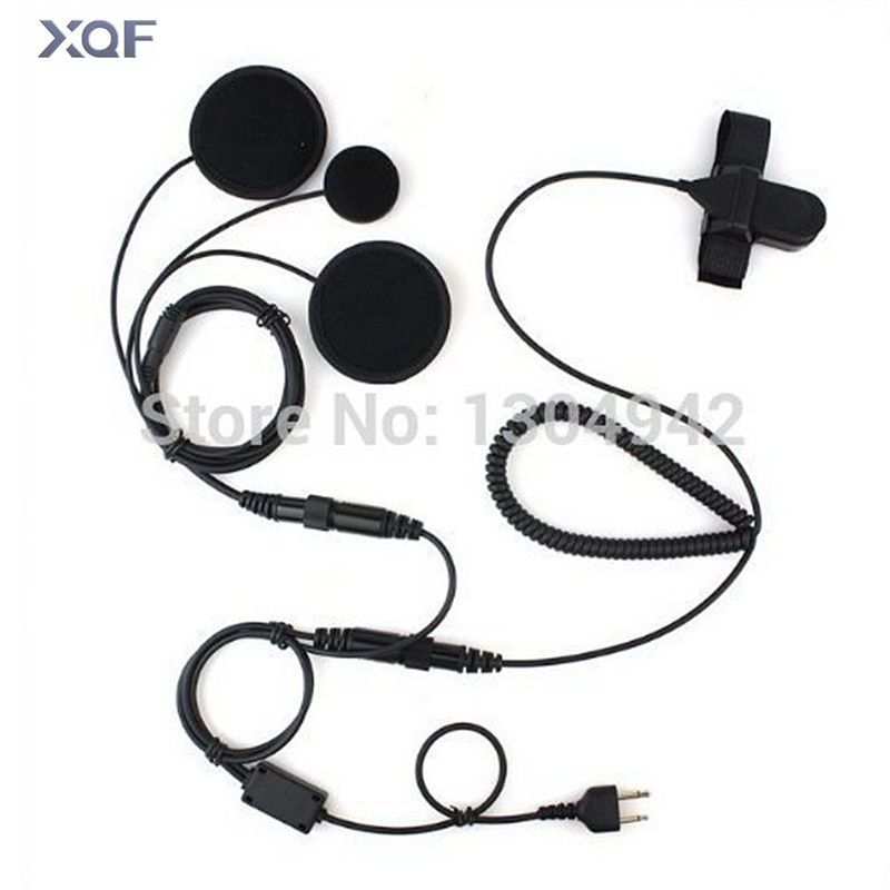 Full Face Moto Motorcycle Bike Helmet Earpiece Headset Mic