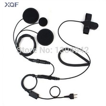 Full Face Moto Motorcycle Bike Helmet Earpiece Headset Mic Microphone 2-pin  for Icom Maxon Yaesu Vertex Radio  free shipping